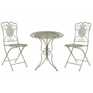Ensemble table et chaise de jardin 2 personne achat for Salon de jardin 2 personnes