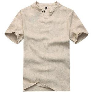 CHEMISE - CHEMISETTE homme chemise de lin lâche t-shirt