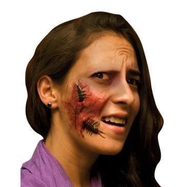 Fausse blessure visage adulte halloween achat vente for Comidee maquillage halloween adulte