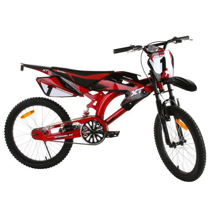 v lo tout terrain motobike 20 pouces pour enfant rouge. Black Bedroom Furniture Sets. Home Design Ideas