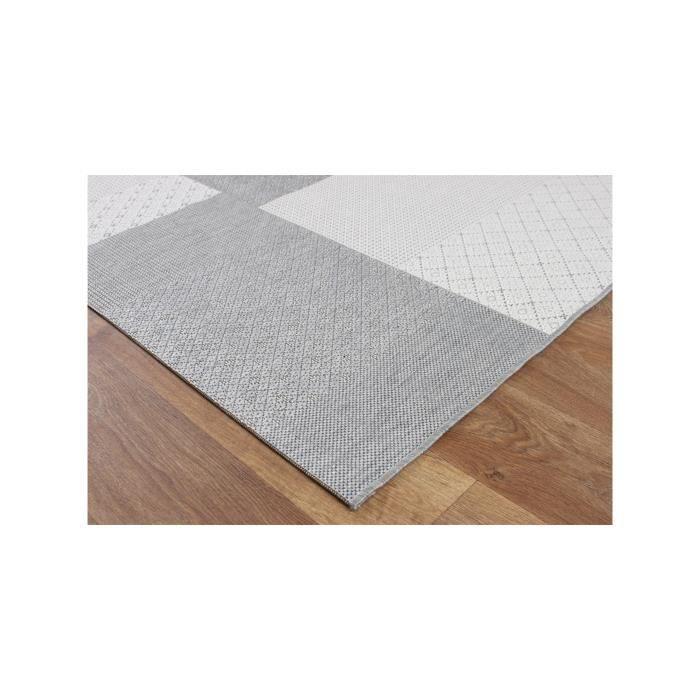 benuta tapis d 39 39 ext rieur int rieur patio gris 80x150 cm 39 achat vente tapis cdiscount. Black Bedroom Furniture Sets. Home Design Ideas