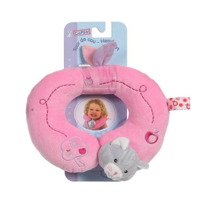 gipsy tour de cou pomme 24 cm chat rose et gris achat. Black Bedroom Furniture Sets. Home Design Ideas