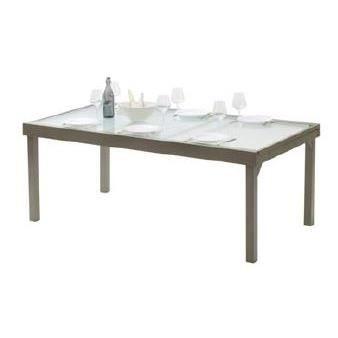 Table De Jardin Modulo 8 12 Places Taupe Achat Vente