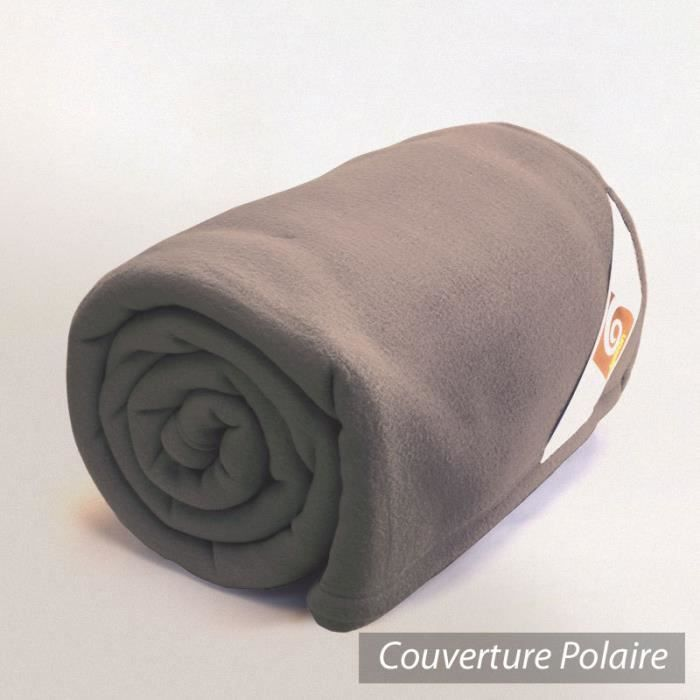 couverture polaire 240x300 cm teddy marron tau achat vente couverture plaid cdiscount. Black Bedroom Furniture Sets. Home Design Ideas