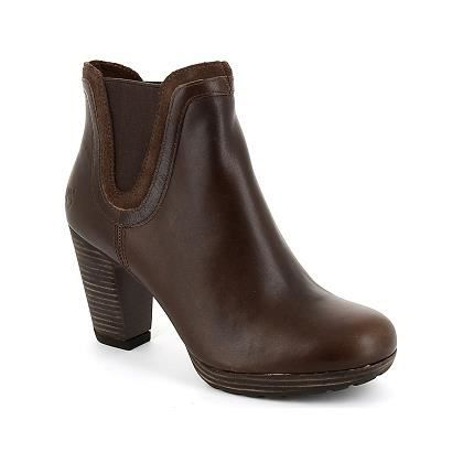 bottines timberland femme ek exete cuir marron marron achat vente bottine cdiscount. Black Bedroom Furniture Sets. Home Design Ideas