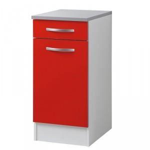 Paris prix meuble bas 40 cm smarty rouge achat - Meuble bas 40 cm ...