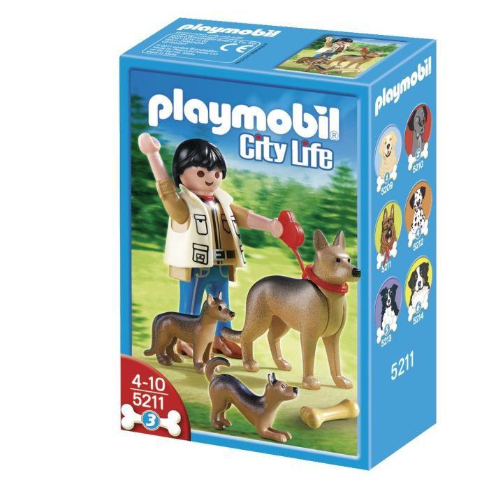 juniors jeux et jouets par type playmobil  berger allemand ses petits f pl