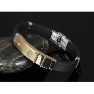 bracelet homme acier et plaqu or. Black Bedroom Furniture Sets. Home Design Ideas