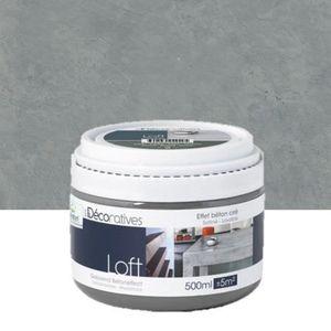 Peinture loft meuble effet b ton cir 500ml l achat vente peinture vernis cdiscount for Peinture effet cire