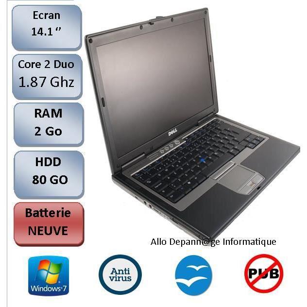 ORDINATEUR PORTABLE Dell D630. BATTERIE NEUVE , Garantie 3 mois