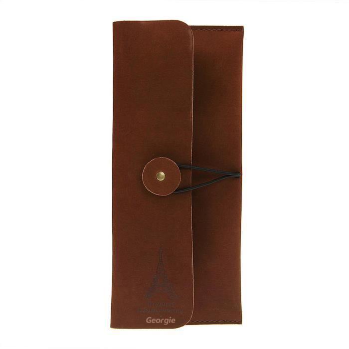 sac crayon roulant etui stylo scolaire en cuir naturel pour etudiant travail pochette grande. Black Bedroom Furniture Sets. Home Design Ideas
