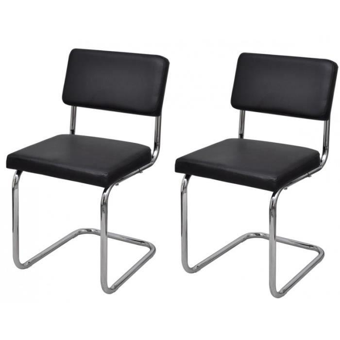 2 chaises de salle a manger noir 1902022 achat vente for Salle manger noir