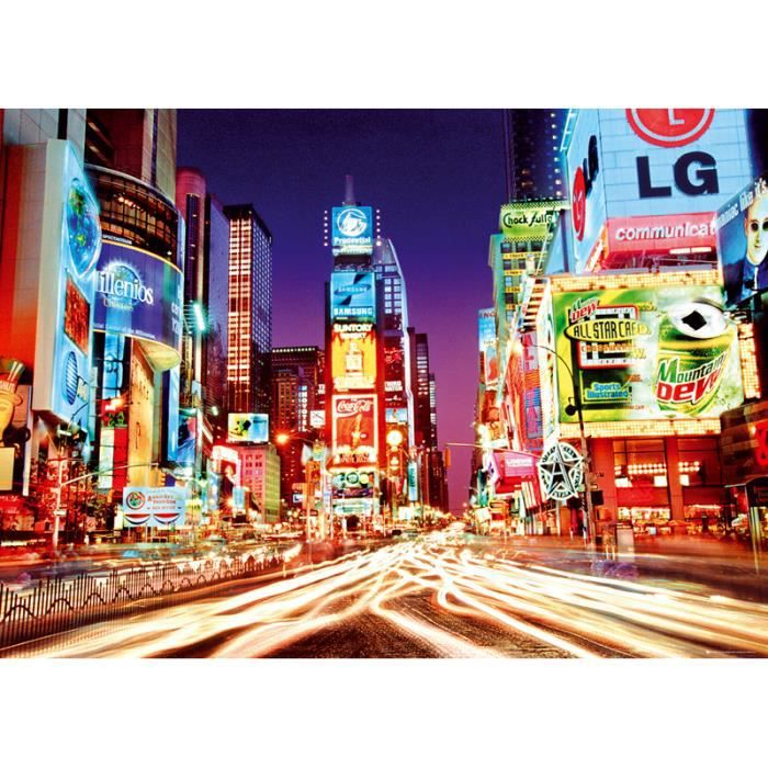Poster xxl times square new york by night achat vente affiche cdiscount - Achat maison new york ...