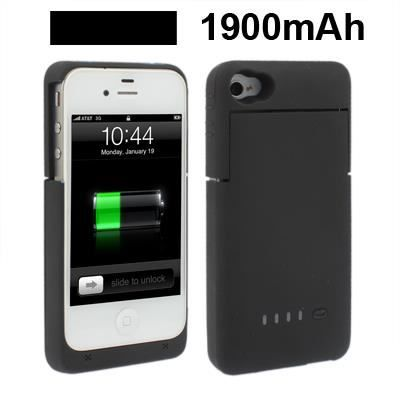 coque batterie rechargeable iphone 4 4s achat coque. Black Bedroom Furniture Sets. Home Design Ideas