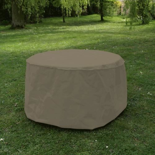 Housse table ronde 120 cm taupe achat vente housse for Vente meuble jardin