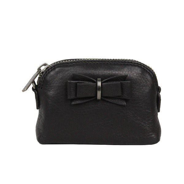 Petite bourse avec n ud porte monnaie femme cuir lancaster 172 03 noir achat vente porte - Porte monnaie femme lancaster ...