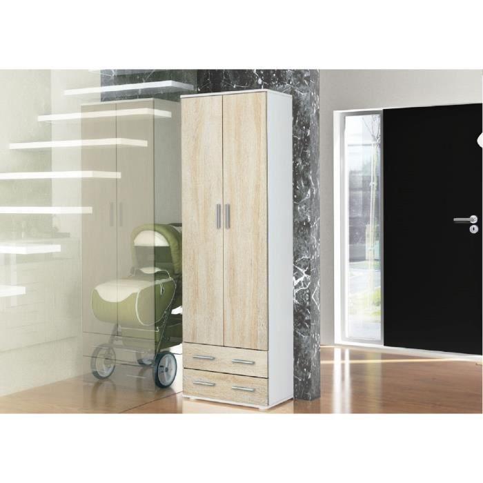 placard de vestiaire laqu poign e inox tring achat vente meuble d 39 entr e placard de. Black Bedroom Furniture Sets. Home Design Ideas