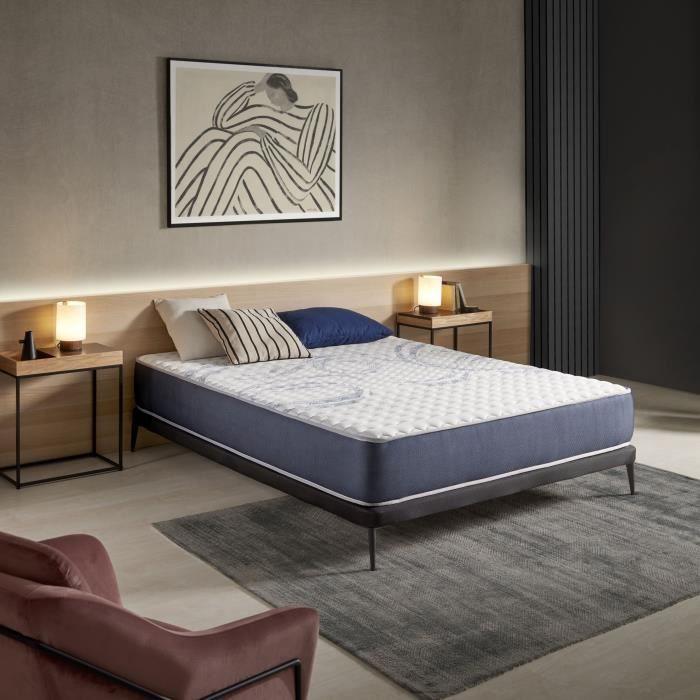 matelas sensogel 80x190 cm 7 zones blue latex m moire 25 cm 3701129979167 achat vente. Black Bedroom Furniture Sets. Home Design Ideas