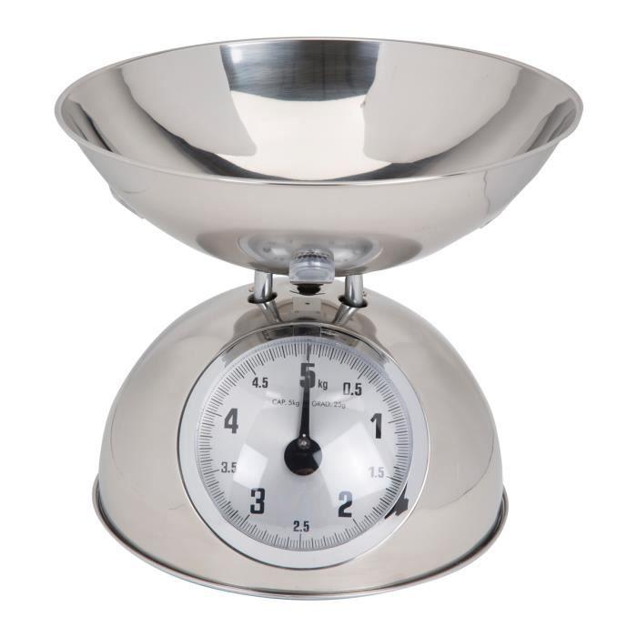Balance de cuisine m canique 5 kg chrome achat vente - Balance mecanique cuisine ...