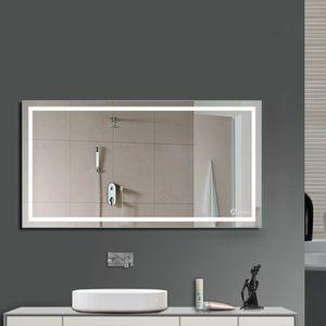 Miroir lumineux salle de bains achat vente miroir for Lumiere led miroir