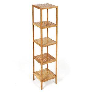 etagere 5 niveaux bambou achat vente etagere 5 niveaux bambou pas cher cdiscount. Black Bedroom Furniture Sets. Home Design Ideas