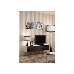 meuble tv petite largeur achat vente meuble tv petite largeur pas cher cdiscount. Black Bedroom Furniture Sets. Home Design Ideas