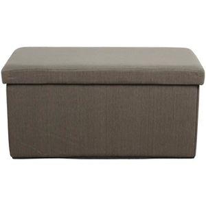 banquette pouf pliant coffre taupe achat vente banquette cdiscount. Black Bedroom Furniture Sets. Home Design Ideas
