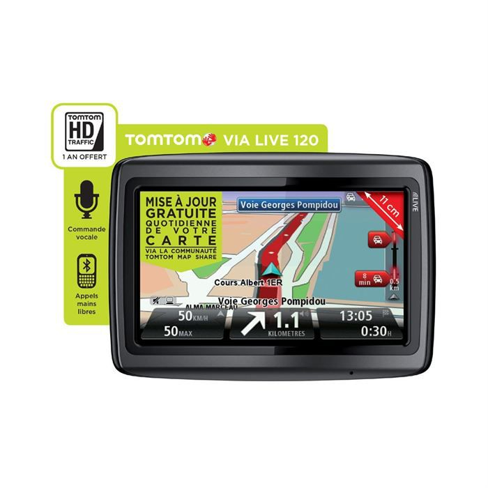 gps tomtom via live 120 europe achat vente gps auto gps tomtom via live 120 europe cdiscount. Black Bedroom Furniture Sets. Home Design Ideas