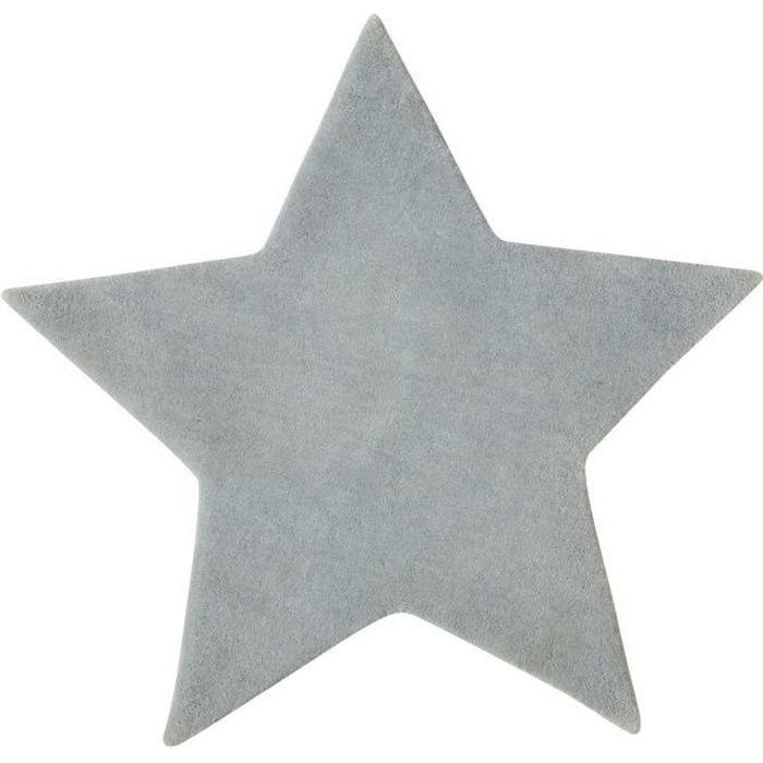 tapis tapis velours etoile gris pour chambre enfant - Tapis Chambre Bebe Garcon
