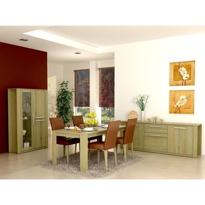 Salle a manger compl te ch ne en vinyle meuble house achat vente salle manger salle a - Salle a manger complete industrielle ...