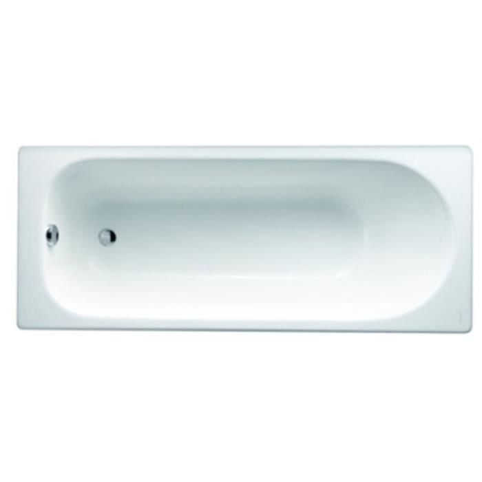 Baignoire prelude 160x70 blanc en fonte emaill e achat for Baignoire balneo 160x70