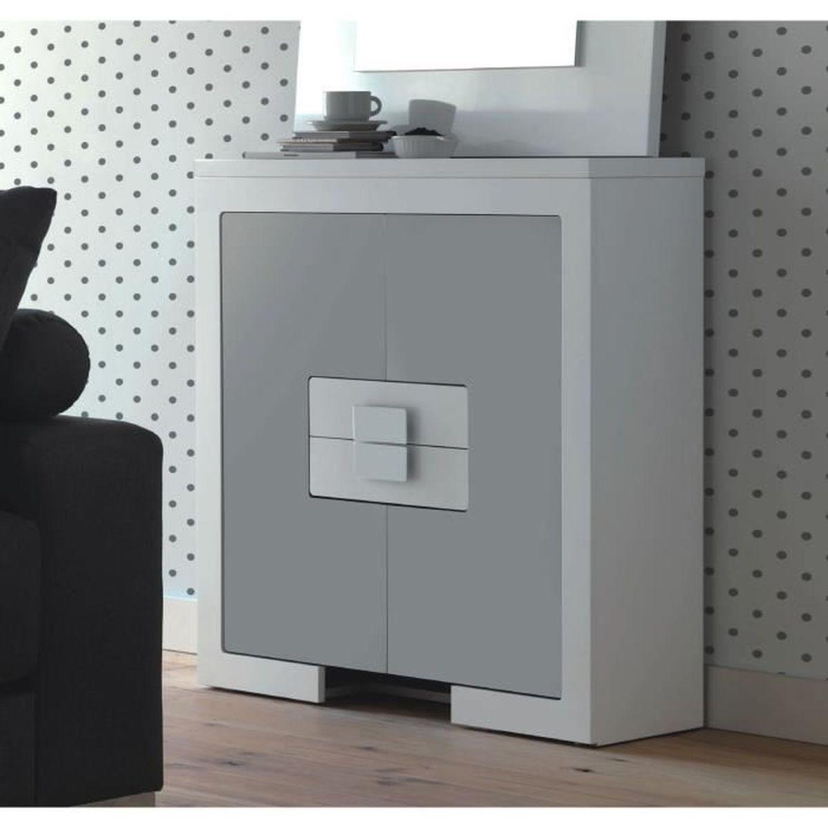 meuble de rangement laque gris achat vente meuble de rangement laque gris pas cher les. Black Bedroom Furniture Sets. Home Design Ideas