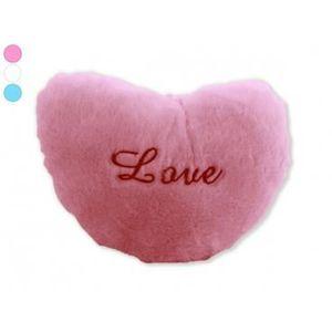 maison r coussin coeur rose