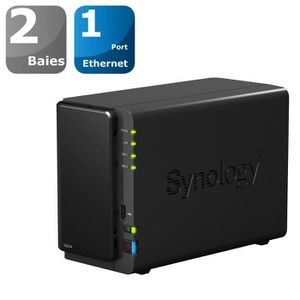 SERVEUR STOCKAGE - NAS  Synology Boîtier NAS 2 Baies DS214