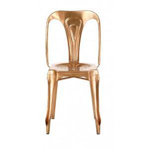 CHAISE 4x Chaise industrielle métal cuivré Indus - Inwood