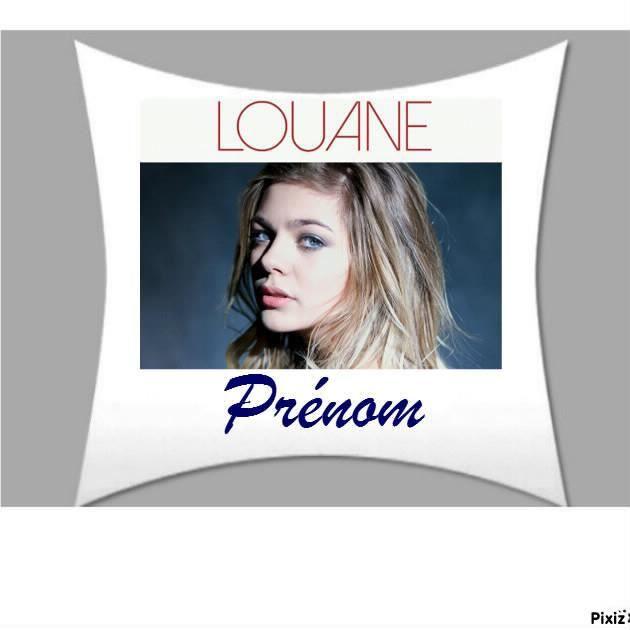 Superbe coussin oreiller personnalise prenom 50 x 50 cm louane c229 achat - Oreiller anti transpirant ...