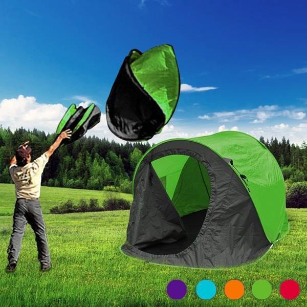 Tente de camping automatique rapide 1 2 places pop prix for Tente cuisine camping
