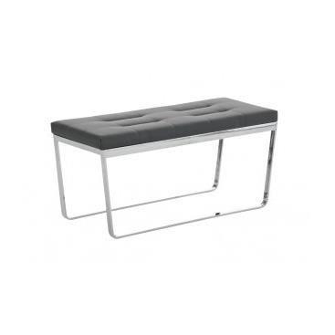Banc design selene gris achat vente banc m tal pu simili cdiscount - Banc de lit pas cher ...