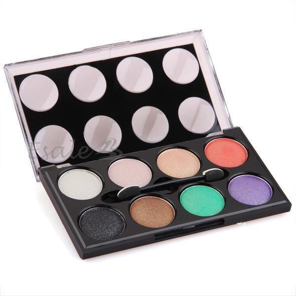 palette fard ombre paupi res eyeshadow 8 couleurs maquillage brosse miroir achat vente. Black Bedroom Furniture Sets. Home Design Ideas