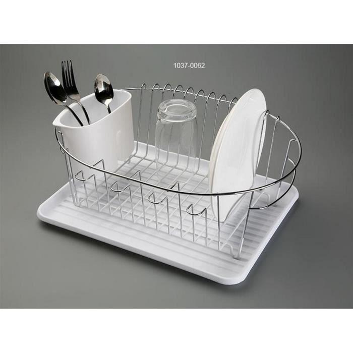 egouttoir vaisselle ovale plateau blanc panier inox versa achat vente egouttoir couverts. Black Bedroom Furniture Sets. Home Design Ideas