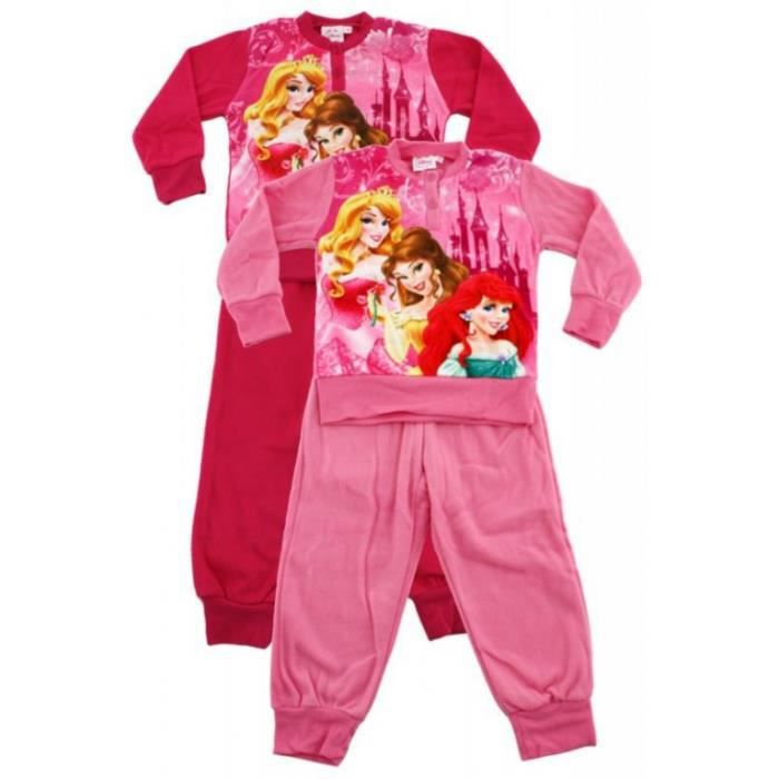 pyjama polaire princesses rose 3 ans achat vente chemise de nuit 2009969817214 cdiscount. Black Bedroom Furniture Sets. Home Design Ideas