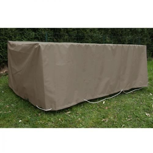 Housse table rectangulaire 180 x 100 cm taupe achat vente housse meuble jardin housse - Housse table de jardin 180 ...