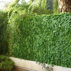 Haie artificielle feuilles lierres achat vente haie de for Cacher un mur de jardin