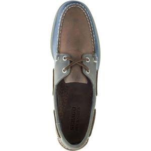 BATEAUX SPINNAKER cuir marron-bleu marine-gris - Chaussure