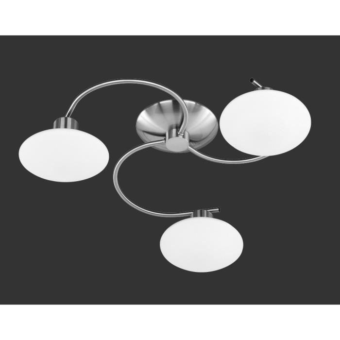 plafonnier rond 50 cm 3 ampoules en nickel ma achat vente plafonnier rond 50 cm 3 am. Black Bedroom Furniture Sets. Home Design Ideas