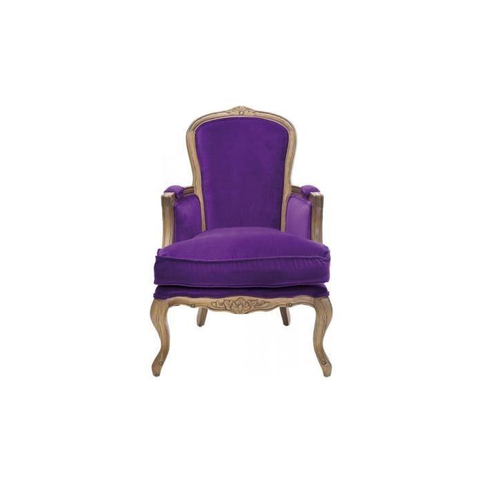 Villa grandfather by kare fauteuil violet achat vente fauteuil ch ne cd - Fauteuil cabriolet violet ...