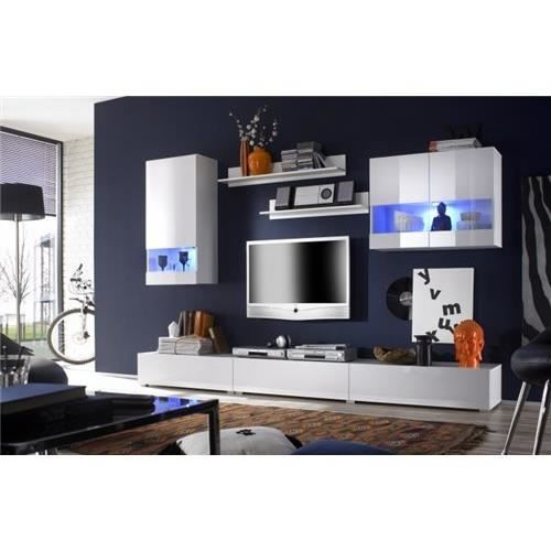 meuble tv mural mateo blanc achat vente meuble tv meuble tv mural mateo blanc cdiscount. Black Bedroom Furniture Sets. Home Design Ideas