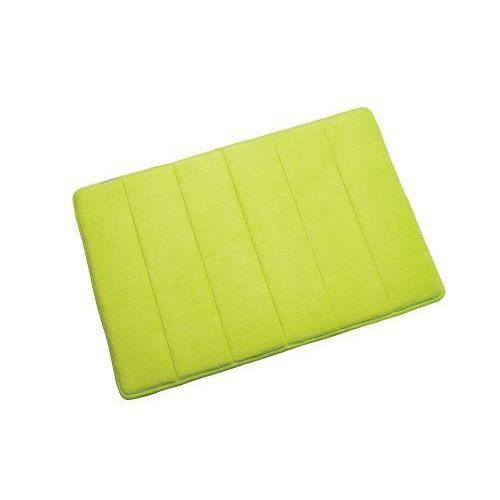 Croydex tapis de bain en mousse m moire de forme vert pomme 60 x 40 cm achat vente tapis Tapis de bain mousse memoire