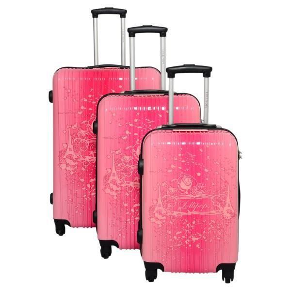 Bagage lollipops lot de 3 valise rose rose achat vente - Lot de valise ...