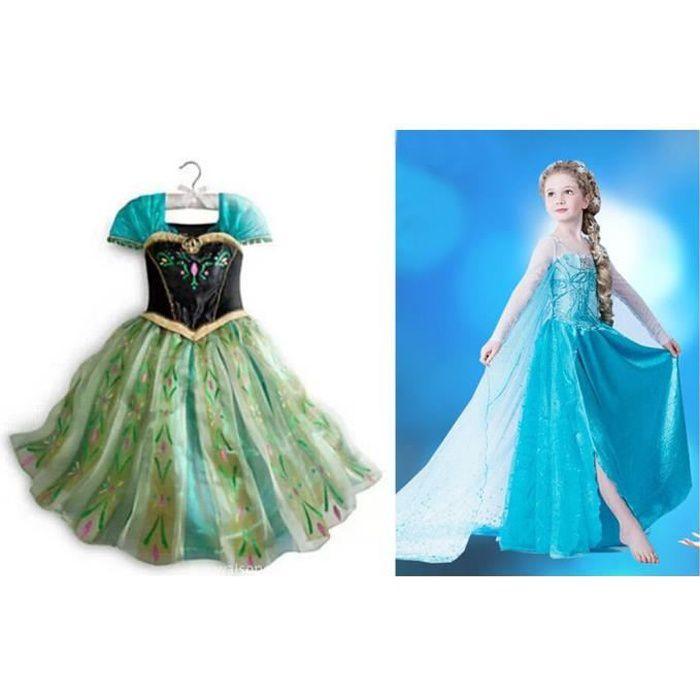 Lot 2 robe elsa robe anna pour amoureux de la reine des - Robe de anna reine des neiges ...
